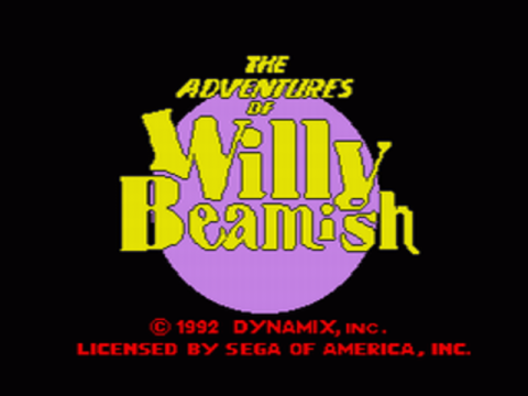 Adventures of Willy Beamish title screenshot