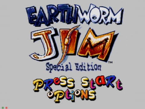 Earthworm Jim - Special Edition title screenshot