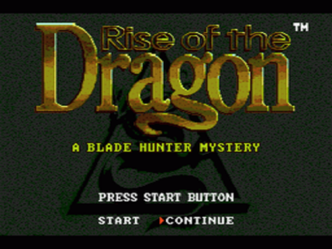 Rise of the Dragon title screenshot