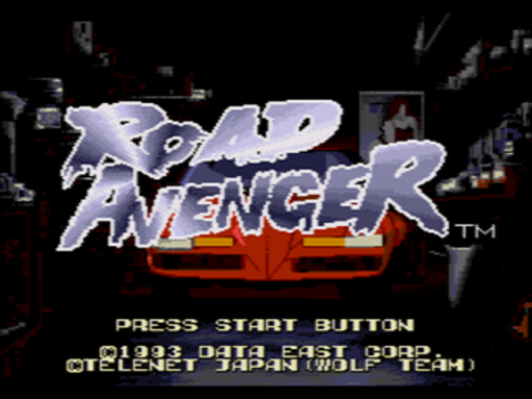 Road Avenger title screenshot
