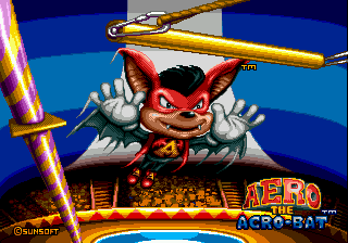 Aero the Acro-Bat title screenshot