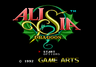 Alisia Dragoon title screenshot
