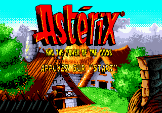 Asterix and the Power of the Gods title screenshot