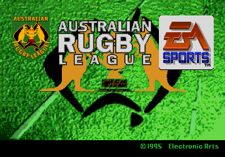 Australian Rugby League title screenshot
