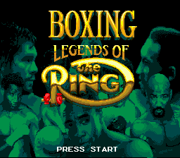 Boxing Legends of the Ring title screenshot