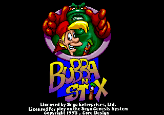 Bubba'n'Stix - A Strategy Adventure title screenshot