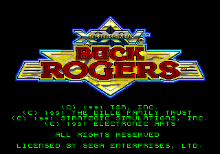 Buck Rogers - Countdown to Doomsday title screenshot