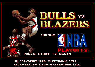 Bulls versus Blazers and the NBA Playoffs title screenshot