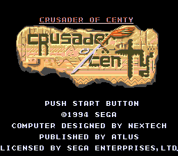 Crusader of Centy title screenshot