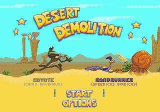 Desert Demolition Starring Road Runner and Wile E. Coyote title screenshot