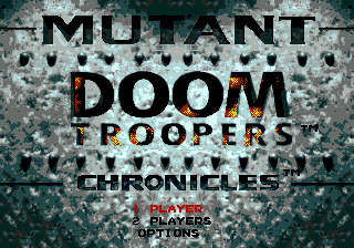 Doom Troopers - The Mutant Chronicles title screenshot