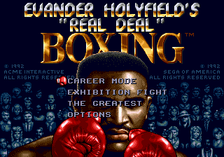 Evander Holyfield's 'Real Deal' Boxing title screenshot