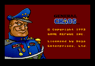 General Chaos title screenshot