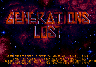 Generations Lost title screenshot