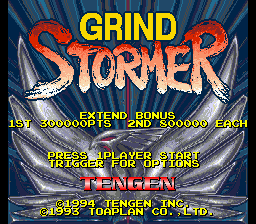 Grind Stormer title screenshot