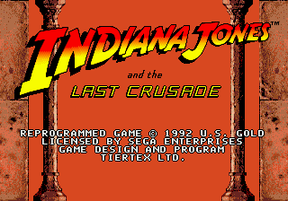 Indiana Jones and the Last Crusade title screenshot