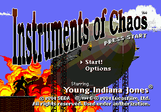 Instruments of Chaos Starring Young Indiana Jones title screenshot