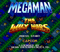 Mega Man - The Wily Wars title screenshot