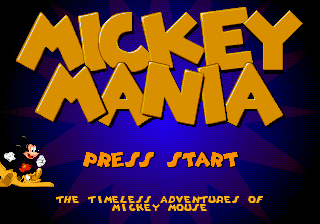 Mickey Mania - The Timeless Adventures of Mickey Mouse title screenshot