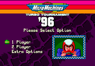 Micro Machines Turbo Tournament 96 title screenshot