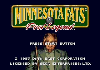 Minnesota Fats - Pool Legend title screenshot
