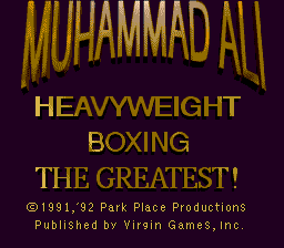 Muhammad Ali Heavyweight Boxing title screenshot