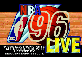 NBA Live 96 title screenshot
