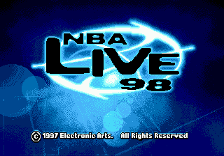 NBA Live 98 title screenshot