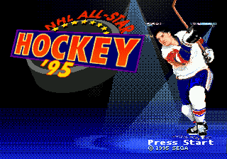 NHL All-Star Hockey '95 title screenshot