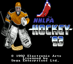NHLPA Hockey 93 title screenshot