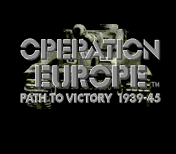 Operation Europe - Path to Victory 1939-45 title screenshot