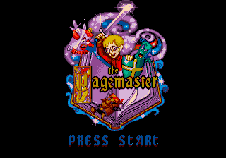 Pagemaster, The title screenshot
