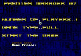 Premier Manager 97 title screenshot
