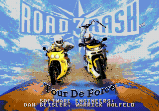 Road Rash 3 title screenshot