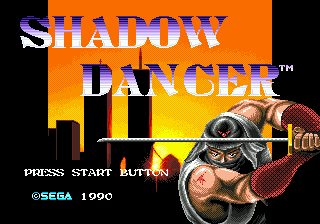 Shadow Dancer - The Secret of Shinobi title screenshot