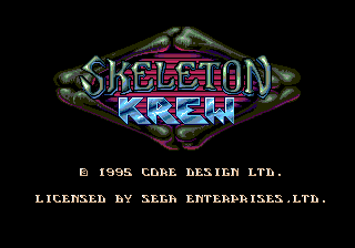 Skeleton Krew title screenshot