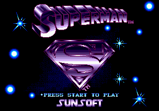 Superman title screenshot