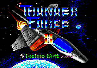 Thunder Force II title screenshot