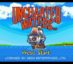 Uncharted Waters title screenshot