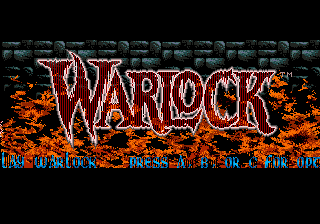 Warlock title screenshot