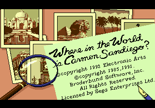 Where in the World Is Carmen Sandiego ? title screenshot