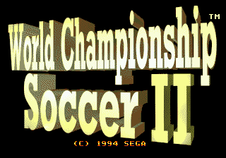 World Championship Soccer II title screenshot