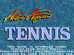 Andre Agassi Tennis title screenshot