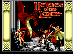 Heroes of the Lance title screenshot