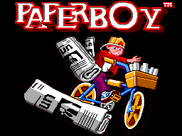 Paperboy title screenshot