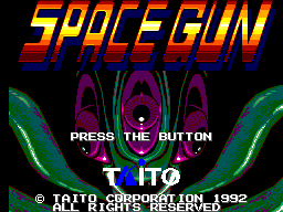Space Gun title screenshot