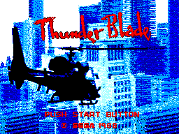 Thunder Blade title screenshot
