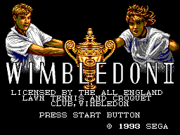 Wimbledon II title screenshot