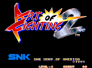 Art of Fighting 2 title screenshot