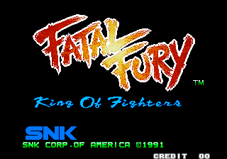 Fatal Fury 1 : King of Fighters title screenshot